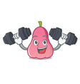 fitness rose apple character cartoon vector image