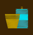 flat shading style icon pixel can of soda and vector image