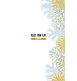 foral decoration with palm leaves vector image vector image