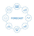 forecast icons vector image vector image