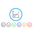 functions plot rounded icon vector image vector image