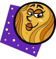 funny venus planet cartoon vector image vector image