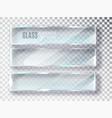 glass transparent banners set plates vector image