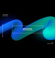 glowing neon 3d loop wave background vector image