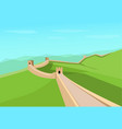 great wall of china in flat design vector image vector image