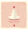 Grunge background with Christmas tree vector image vector image