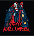 halloween design of dracula vector image vector image