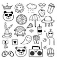 hand drawn doodle lovely set vector image vector image