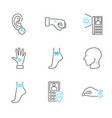 human electronic tagging outline icon collection vector image vector image