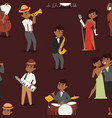 jazz music seamless pattern group of creative vector image vector image