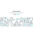 Job interview - modern line design style