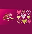 joyeuse saint valentin french golden lettering vector image