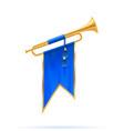 king royal golden horn trumpet vector image vector image