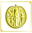 logo for starfruit vector image