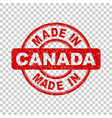made in canada red stamp on isolated background vector image vector image