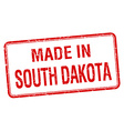 made in South Dakota red square isolated stamp vector image vector image