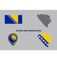 Map of Bosnia and Herzegovina and symbol vector image vector image