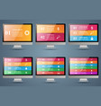 monitor icon business 3d infographics vector image vector image