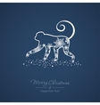 New year card with a monkey vector image vector image