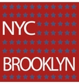 new york t-shirt vector image vector image