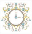old vintage clock with pink and blue vector image vector image