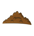 pile of ground heap of soil - isolated on white vector image vector image