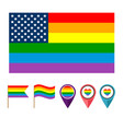 pride flag flat style vector image