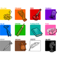 primary colors educational set vector image vector image