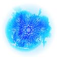 round blue gradient mandala on white background vector image