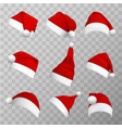 santa claus hats realistic vector image