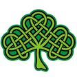 shamrock celtic tattoo vector image vector image