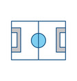 soccer field symbol vector image vector image