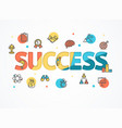 success start up concept paper art vector image