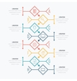 Thin line infographic element vector image vector image