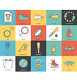 thin line sport set icons concept vector image vector image