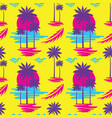 tropical summer vacation - decorative banner vector image