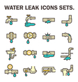 water leak icon vector image vector image