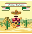Welcome to Mexico vector image vector image