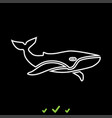 whale it is white icon vector image vector image