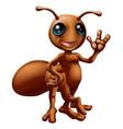 cartoon ant mascot vector image