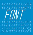 Thin Italic Font family and Alphabet Font Design vector image
