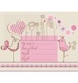 baby girl cute card vector image