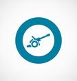 cannon icon bold blue circle border vector image