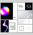 abstract layouts of modern social network vector image