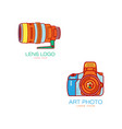 art photo camera lens icon isolated vector image vector image