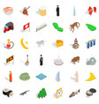 asia icons set isometric style vector image