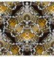 baroque seamless pattern modern geometric vector image vector image