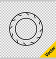 black line car tire wheel icon isolated on vector image vector image