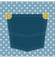 blue pocket vector image vector image
