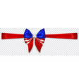 bow in colors usa flag with horizontal ribbon vector image